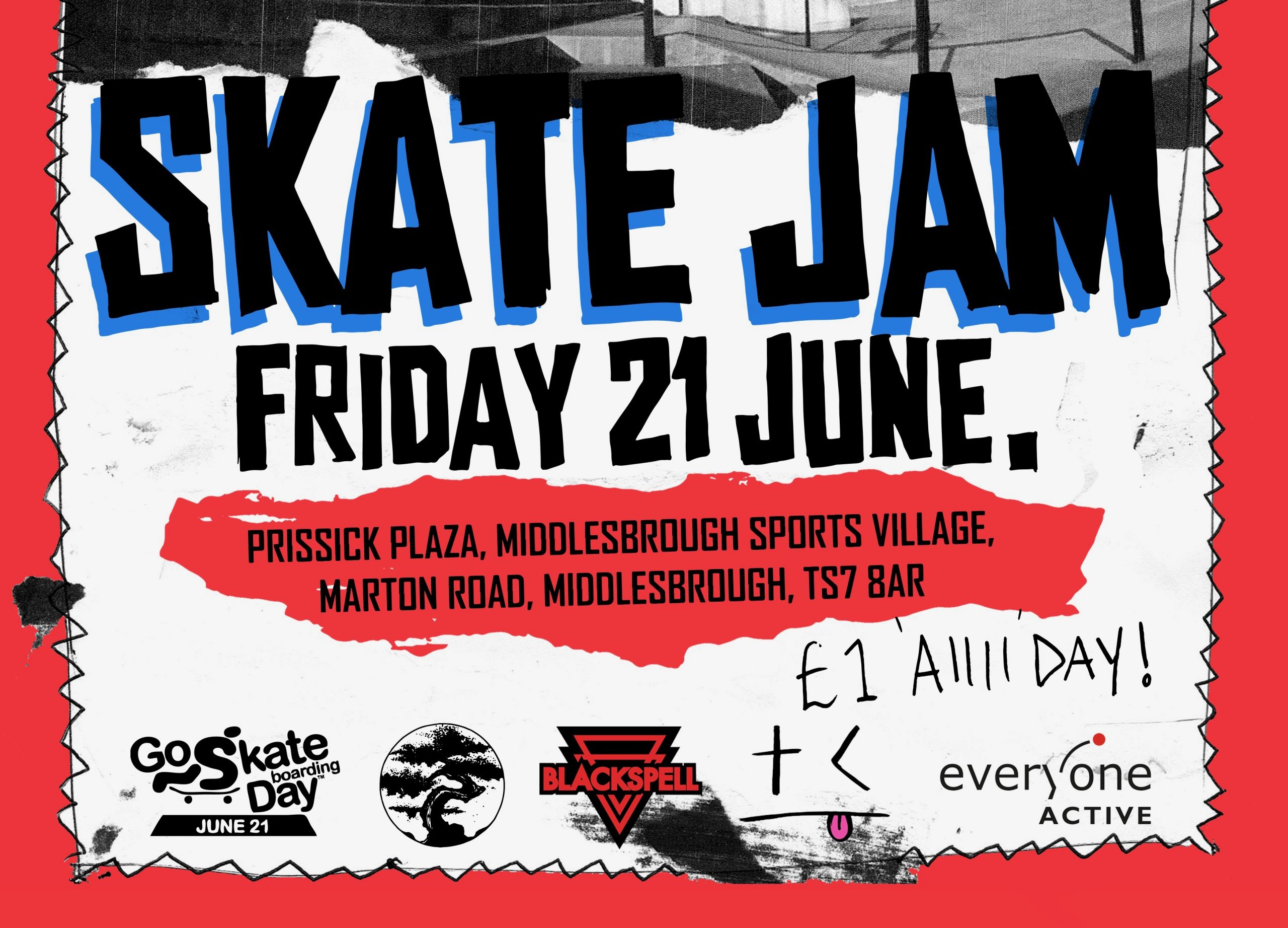 FULL EVENT DETAILS | THINK CULTURE SKATE JAM | FRIDAY 21ST JUNE @ PRISSICK PLAZA